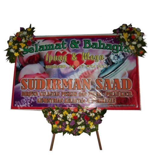 papan bunga pernikahan - WD 005