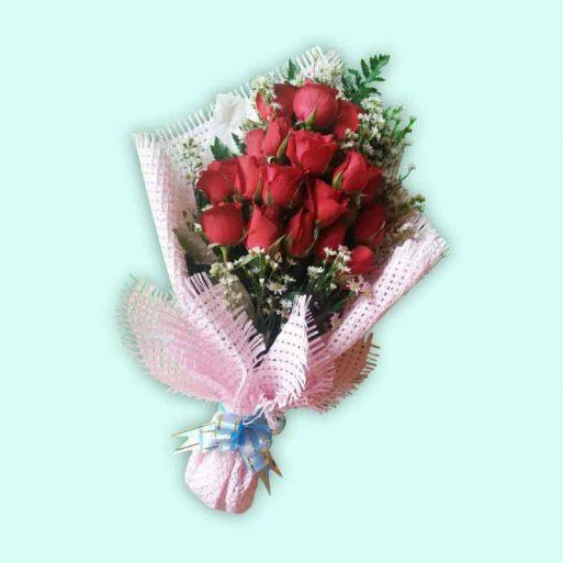 uncategorized - Bouquet Red Blush Rose