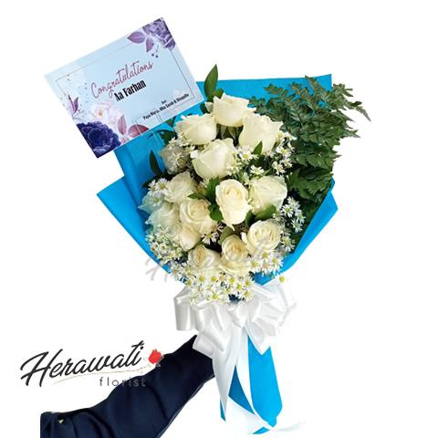hand bouquet - rose blue fantasy