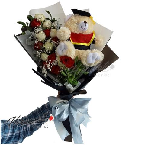 ulang tahun - Buket Bunga Teddy Bear