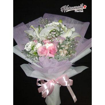 Hand Bouquet - Buket Bunga Wedding Bunga Lily