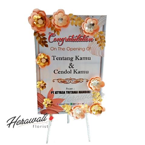 bunga artificial - bunga papan kertas gold