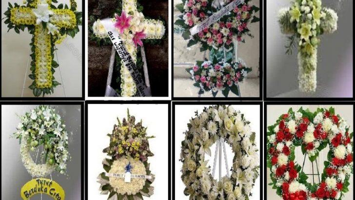 karangan bunga kematian